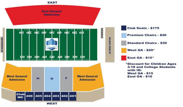 Medal of Honor Bowl Game Seating Chart