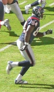 Coach Eric Moulds as a Houston Texan