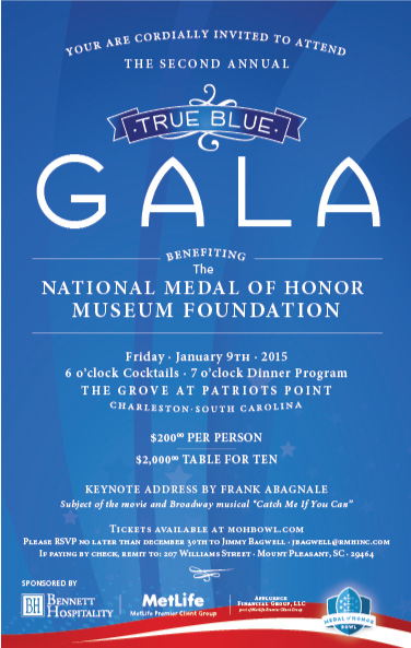 True Blue Gala Invitation