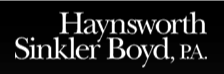 Haynsworth Sinker Boyd PA Sponsor