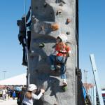 MOHB fanfest rock wall climb