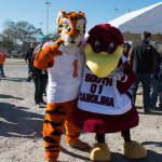 Clemson and Gamecocks mascots at MOHB