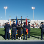 mohb guards honoring flag